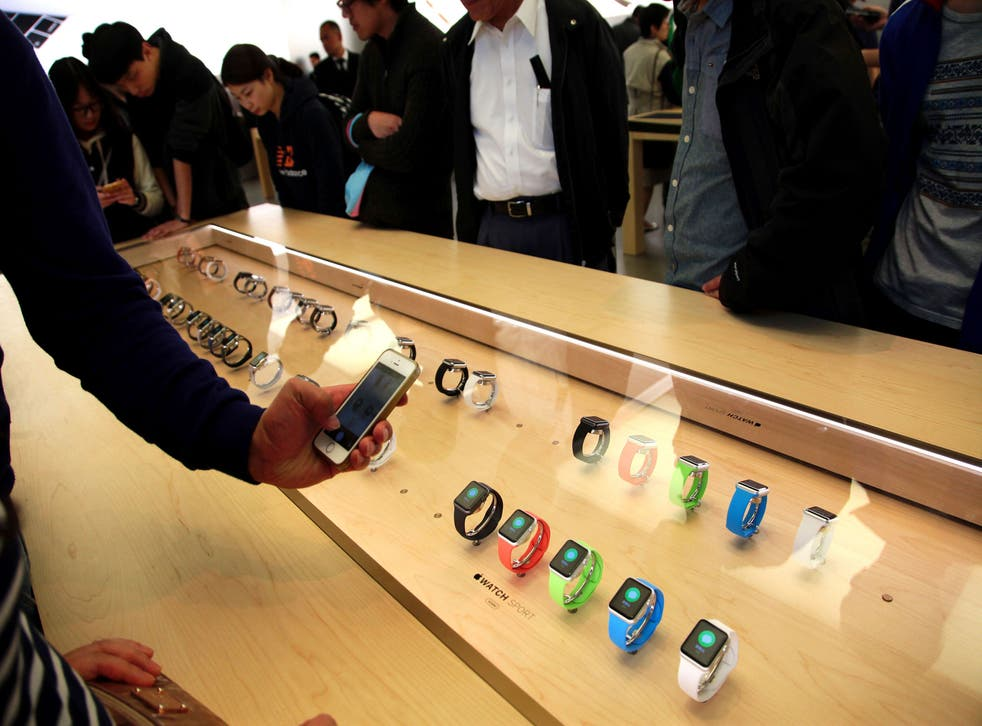 The Apple Watch went on display in Apple stores earlier this month (Getty)