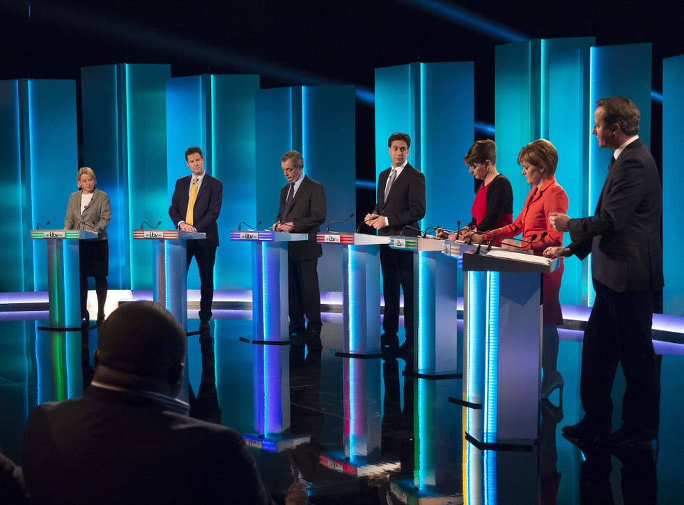 Of the seven party leaders significant enough to appear in the televised debate on 2 April, three were women