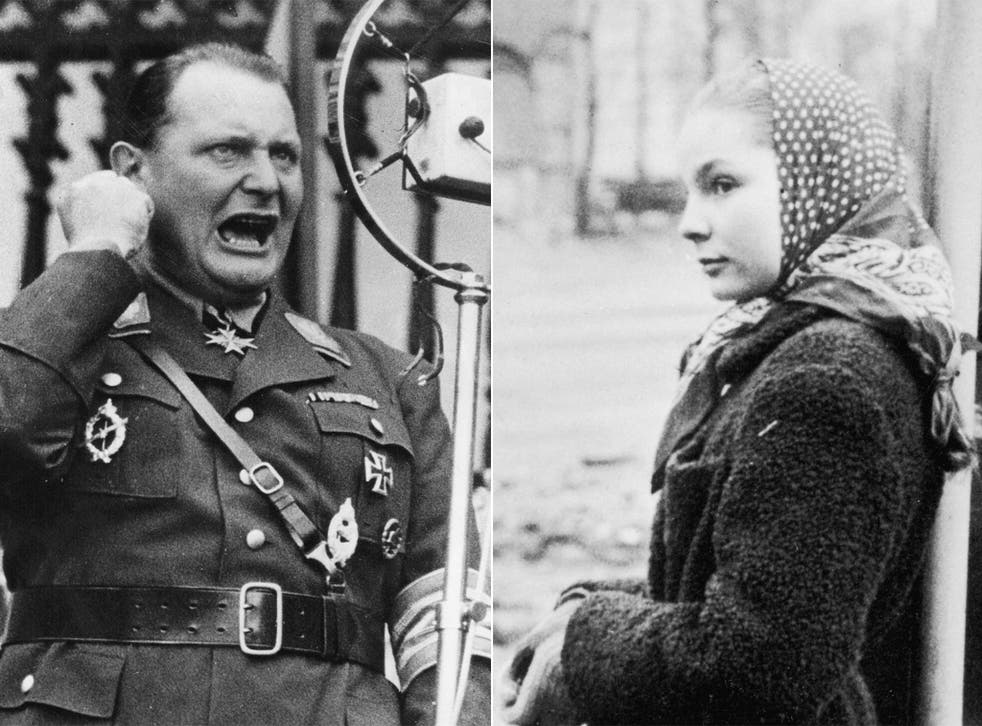 Hermann Goering and his daughter Edda, pictured in 1950