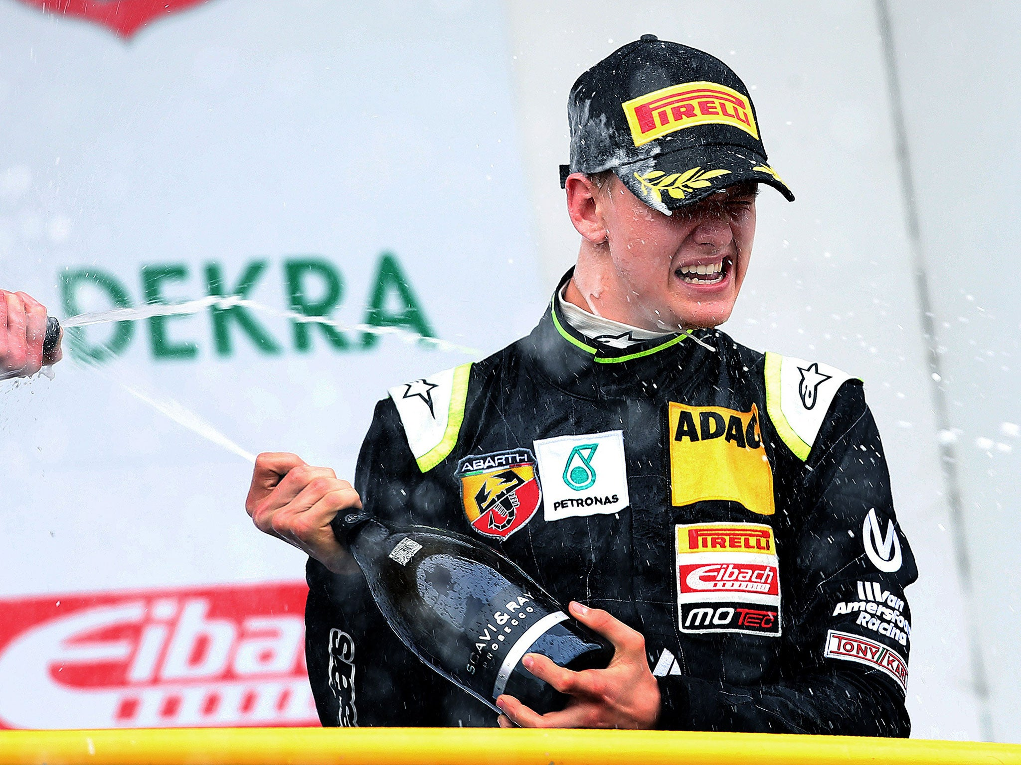 mick schumacher finishes ninth after starting 19th as son of michael schumacher makes his adac. Black Bedroom Furniture Sets. Home Design Ideas