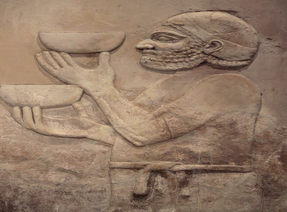 From the Iraq museum in Baghdad; the 'Gilgamesh' epic shows Mesopotamians celebrated the new year