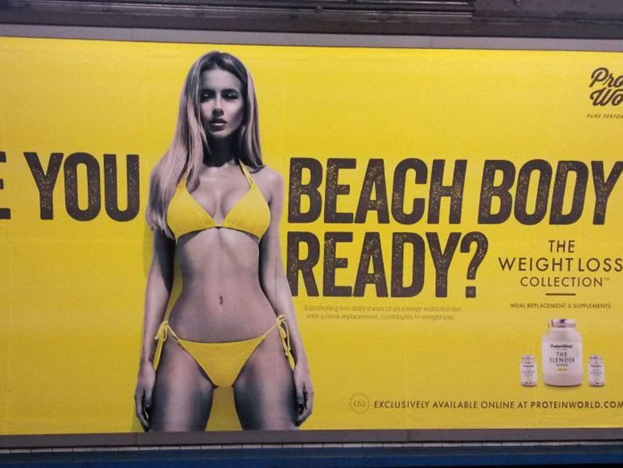 Body-shaming adverts to be banned on London transport by Sadiq Khan