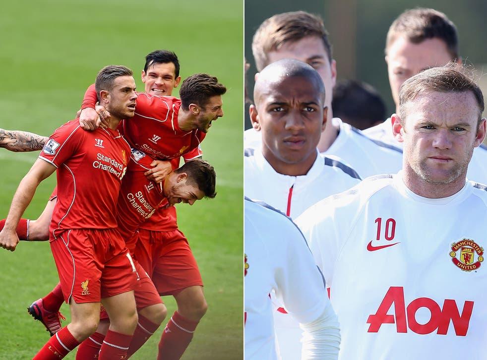 Liverpool's Jordan Henderson and United's Wayne Rooney