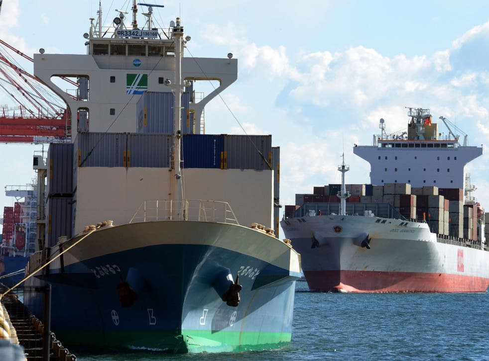 Cargo ships, similar to the vessel reportedly seized by Iran