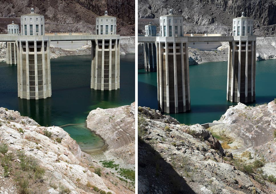 Lake Mead's water level has never been lower, amid historic drought