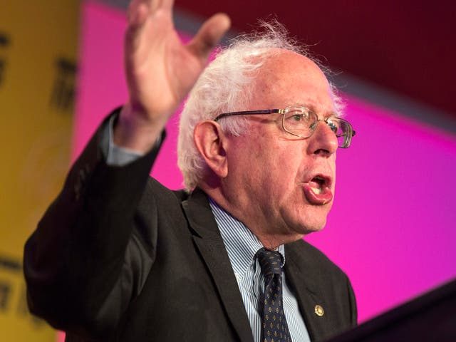 """Senator Bernie Sanders accuses Donald Trump of being a """"corporate socialist"""" after story details his tax filings"""