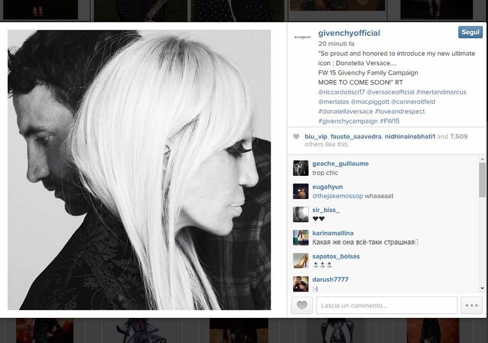 e3e8a9c314 Donatella Versace to star in Givenchy autumn winter campaign