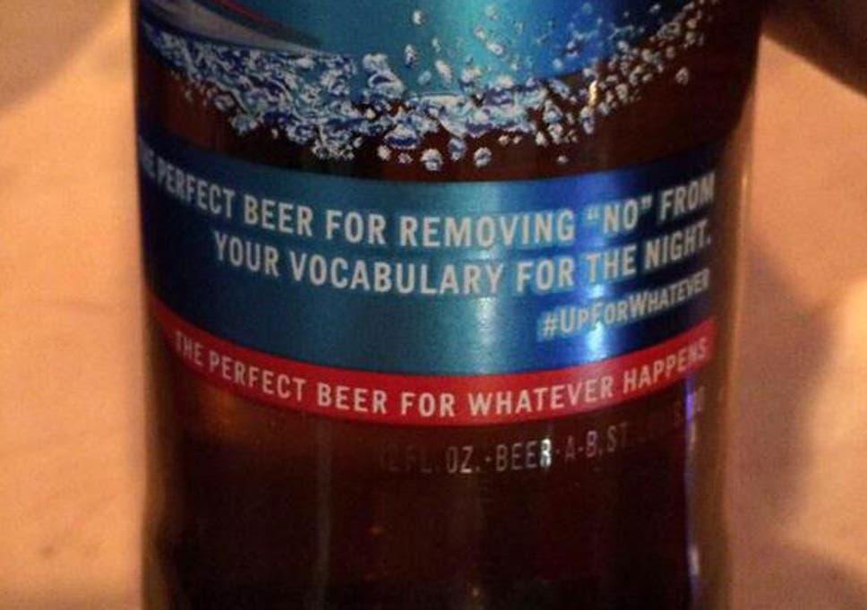 Bud Light apologises for u0027pro rapeu0027 advertising campaign
