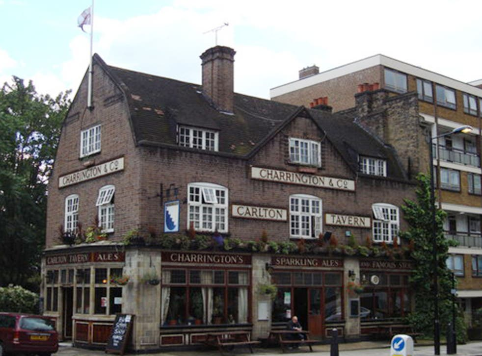 The Carlton before it was demolished