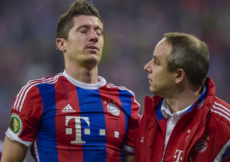 3664b2114 Arjen Robben and Robert Lewandowski injured  Bayern Munich hopes of ...