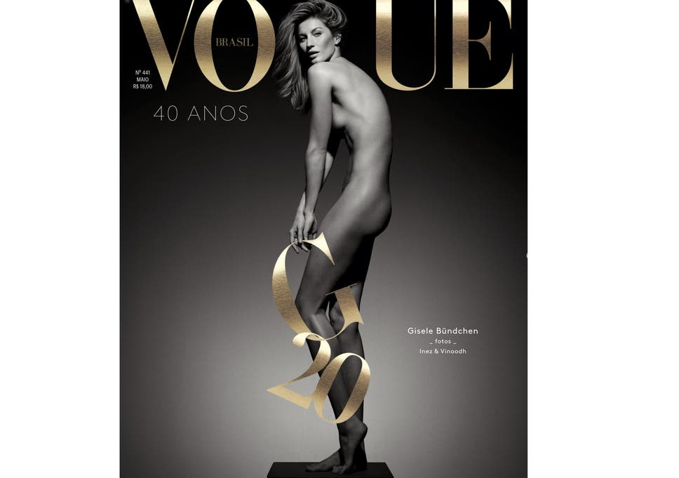 Gisele Bundchen Celebrates 20 Year Catwalk Career With Naked Vogue Cover