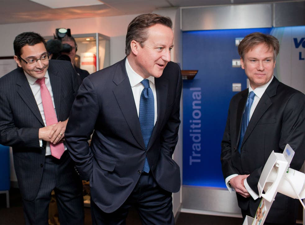 Henry Smith (right) with David Cameron in Crawley in January
