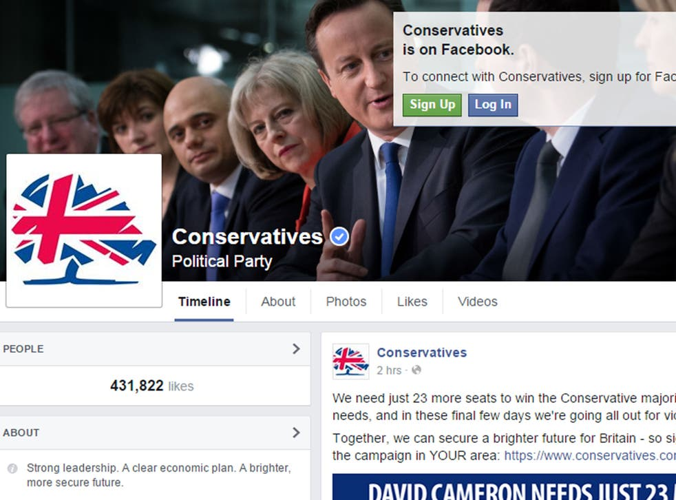 The Conservatives have over 430,000 Facebook likes