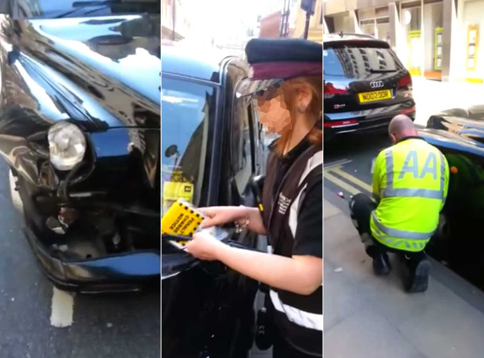 The traffic warden issuing the fine