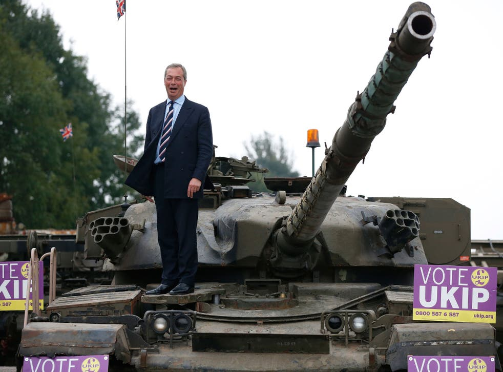 Nigel Farage reportedly considered hiring a tank for Ukip on polling day