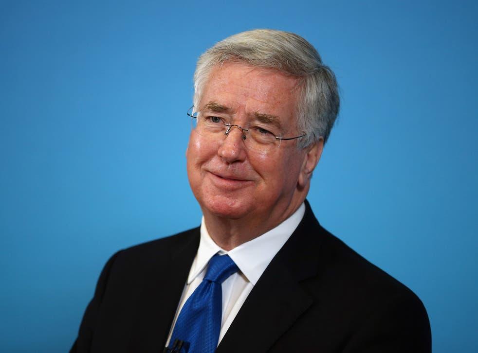 The Defence Secretary Michael Fallon