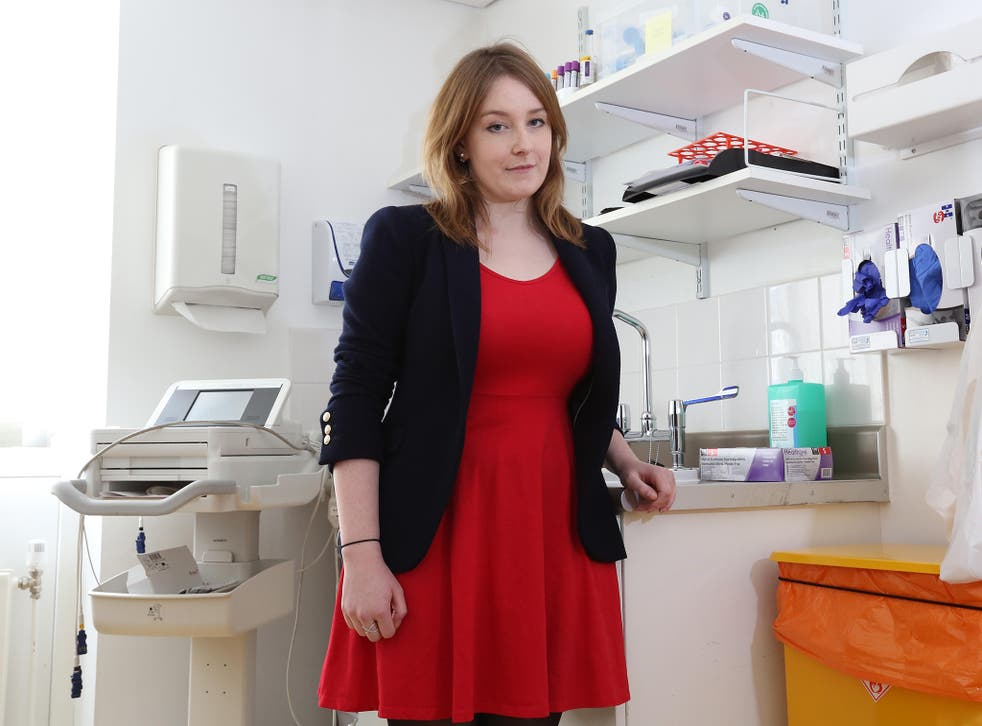 Siobhan Fenton at the Centre for Clinical Vaccinology and Tropical Medicine in the grounds of the Churchill Hospital  in Oxford