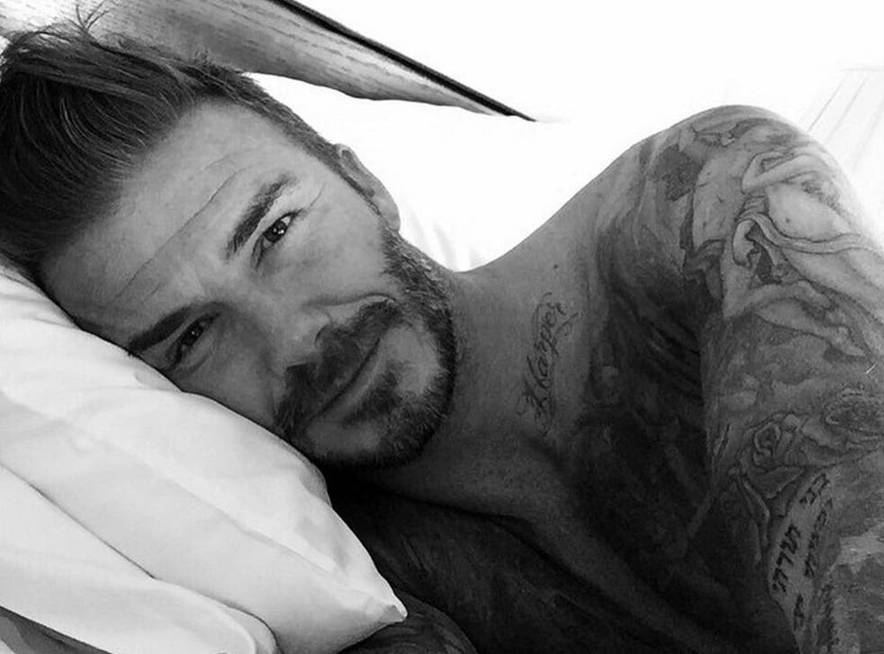 David Beckham posted his first Instagram picture on his 40th birthday