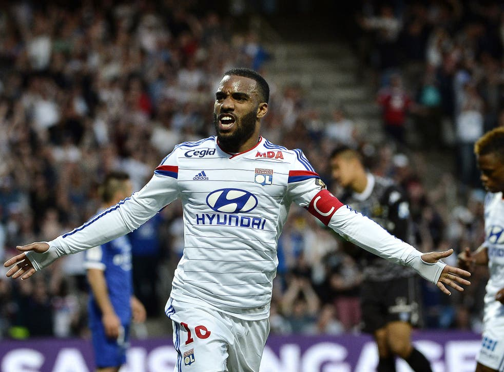 Lyon forward Alexandre Lacazette is a transfer target of Chelsea's