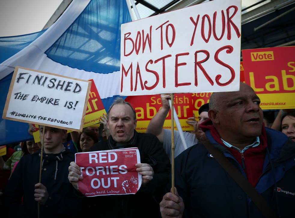 Protesters attempted outside the Labour rally
