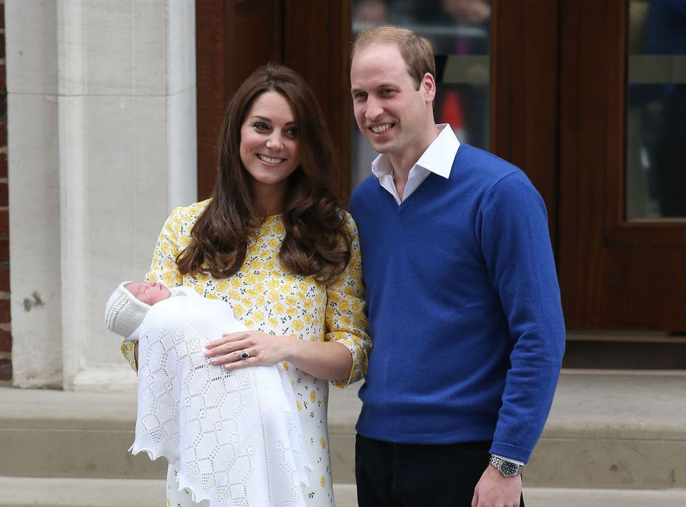 The Duke and Duchess of Cambridge with their baby daughter Charlotte Elizabeth Diana