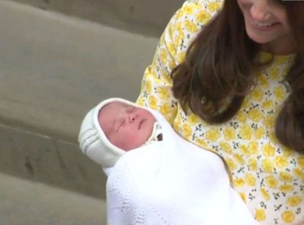 The Duke and Duchess of Cambridge emerged for from hospital briefly with their daughter on Saturday
