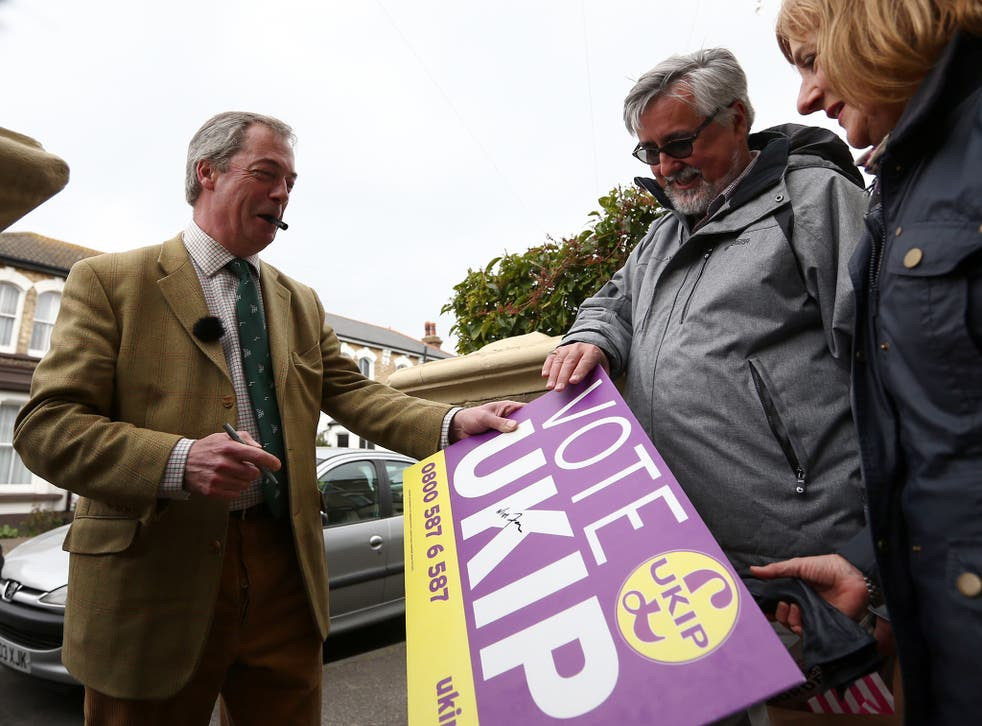 Nigel Farage had been buoyed earlier in the campign when a Survation telephone poll showed he was well ahead of his campaign rivals