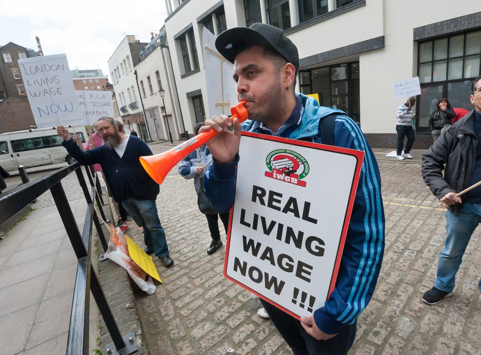 The Living Wage is currently £10.20 an hour in London and £8.75 in the rest of the UK