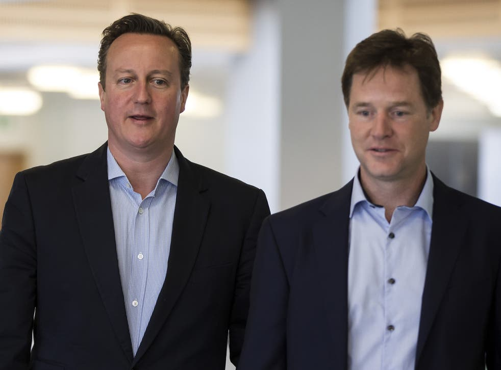 The Liberal Democrats have said they would only enter another coalition if Cameron softens his stance on human rights and benefit cuts (Getty)