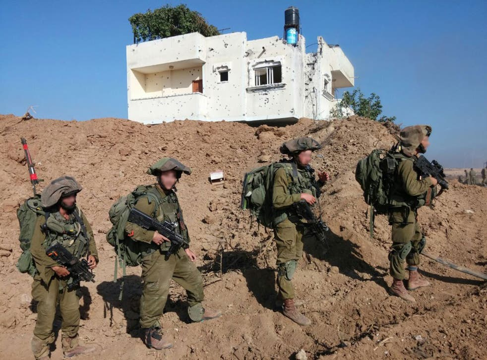Israeli soldiers in an image provided by campaign group Breaking the Silence