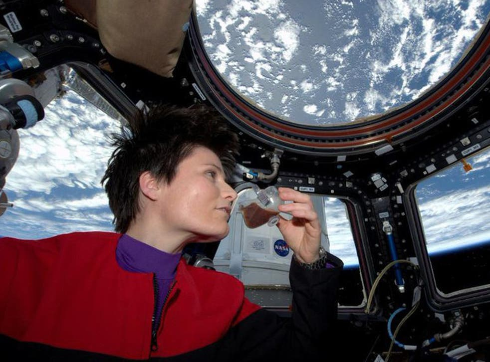 A picture posted to Twitter of the space espresso, served in a specially-developed cup
