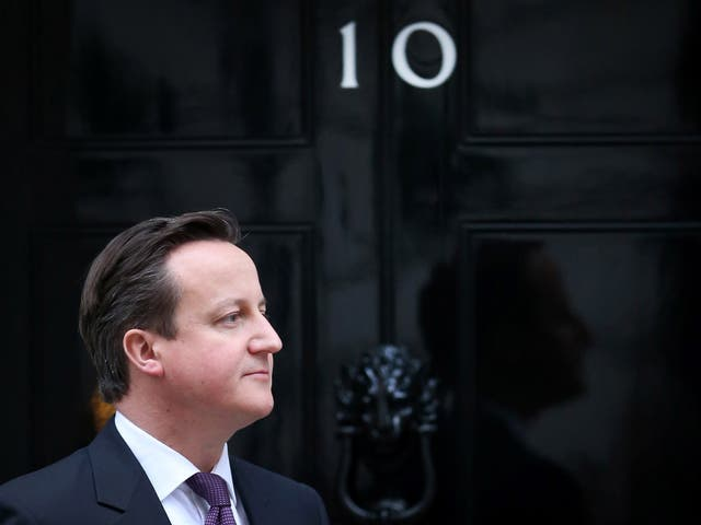 """Labour are forewarning that David Cameron might try to """"squat"""" in Downing Street after the election (Ge"""