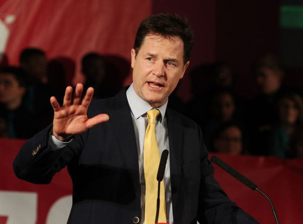 At times Nick Clegg has sounded as if he's stating a strong preference for another coalition with the Tories, a notion which he rejects