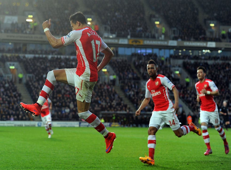 Alexis Sanchez and Arsenal are trying to hold off Man City's surge