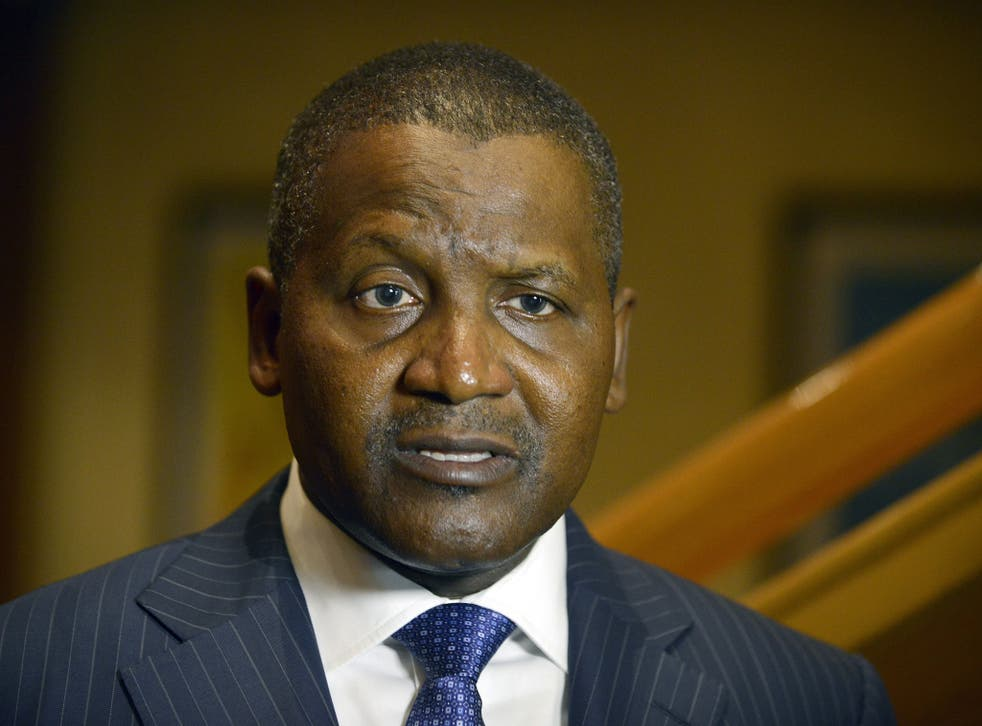 Aliko Dangote, Africa's richest man, wants to buy Arsenal