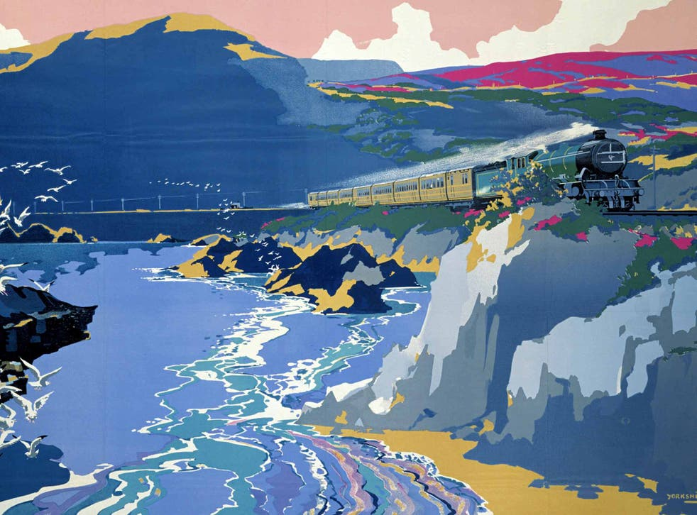 End of the line: colourful posters once encouraged Brits to visit the seaside by train