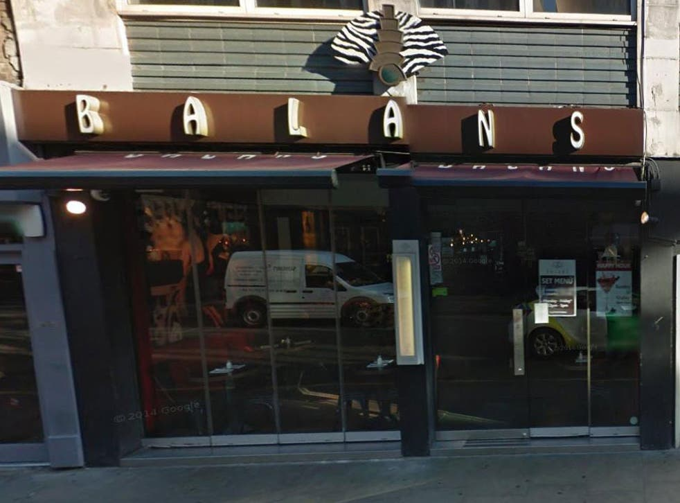 Balans said the incident was a 'behavioural issue'