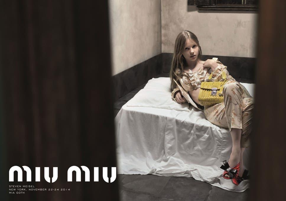 3c4a58c3de1f0 Miu Miu defends ad banned for  sexualising  young-looking model ...
