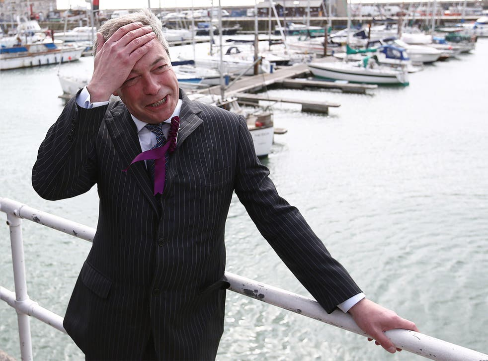 Nigel Farage at Ramsgate Harbour on Wednesday