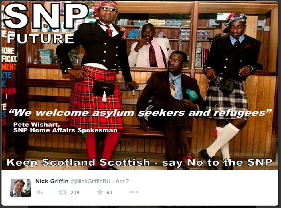 Nick Griffin used Daniele Tamagni's image of Congolese dandies in a tweet