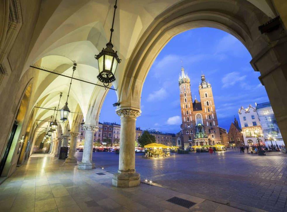 Corner the market: Rynek Glowny and St Mary's Church
