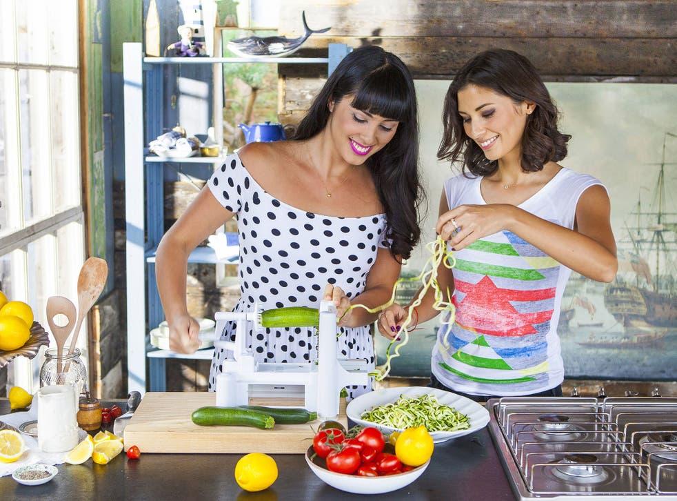 Starch enemies: Melissa (left) and Jasmine Hemsley with their spiraliser
