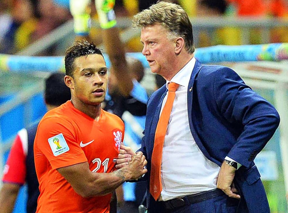 Memphis Depay impressed playing for Louis van Gaal's Netherlands at last year's World Cup