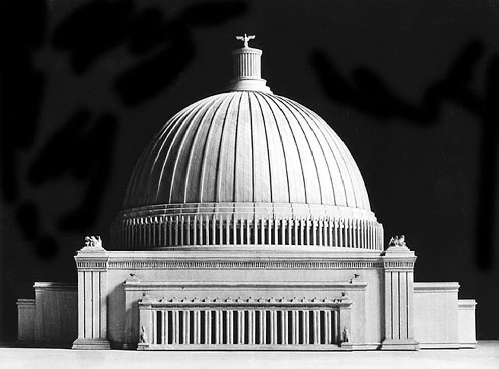 The Volkshalle: Dome designed by Albert Speer to be 16 times larger than that of St Peter's