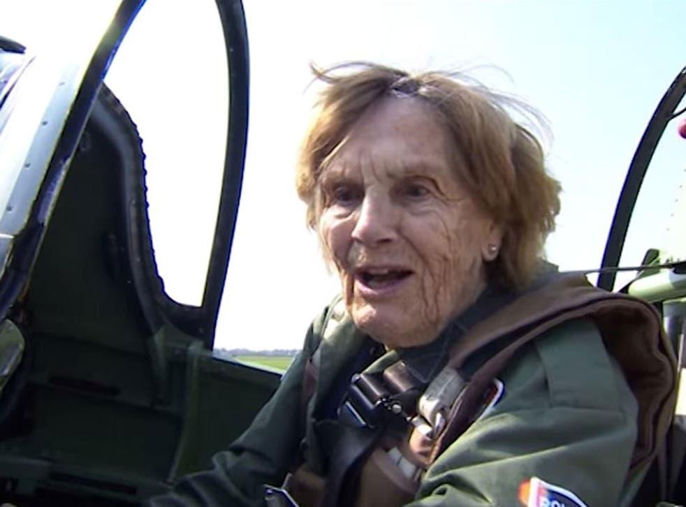 Joy Lofthouse, a 92-year-old Second World War veteran