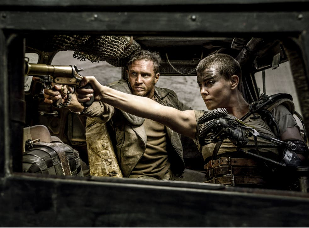 Tom Hardy and Charlize Theron starring in Mad Max: Fury Road