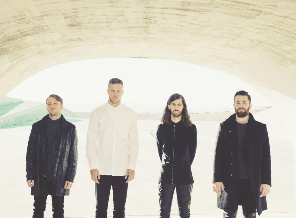 Imagine Dragons promoting their new album 'Smoke + Mirrors'