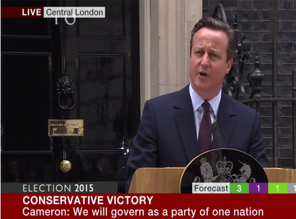 David Cameron speaks outside Downing Street