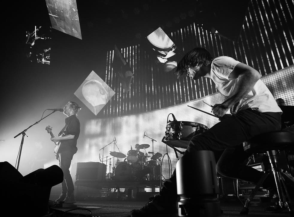Radiohead perform in 2012