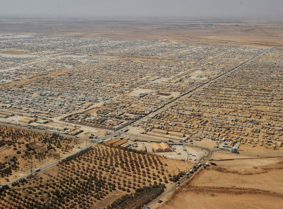 The Zaatari refugee camp near Mafraq, 8km from the Jordanian-Syrian border, is home to more than 80,000 Syrians